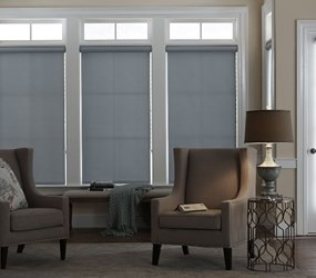 Bella View: Advantage Blackout Vinyl Roller Shade