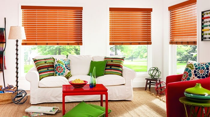 "Bali: 2 1/2"" Faux Wood Blinds"