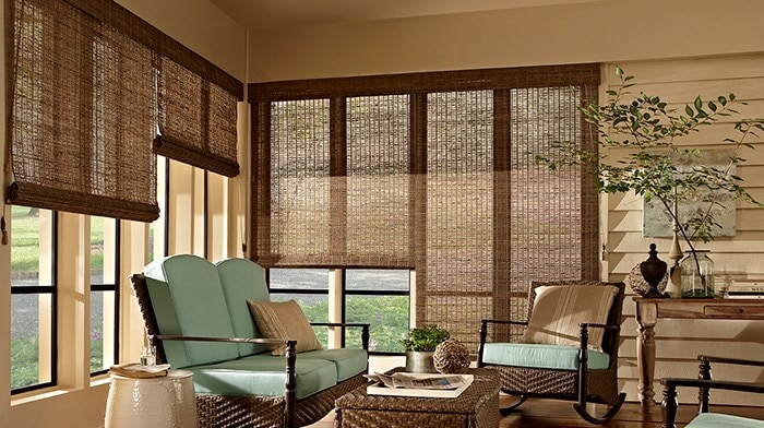 Bella View: Deluxe Woven Wood Shade