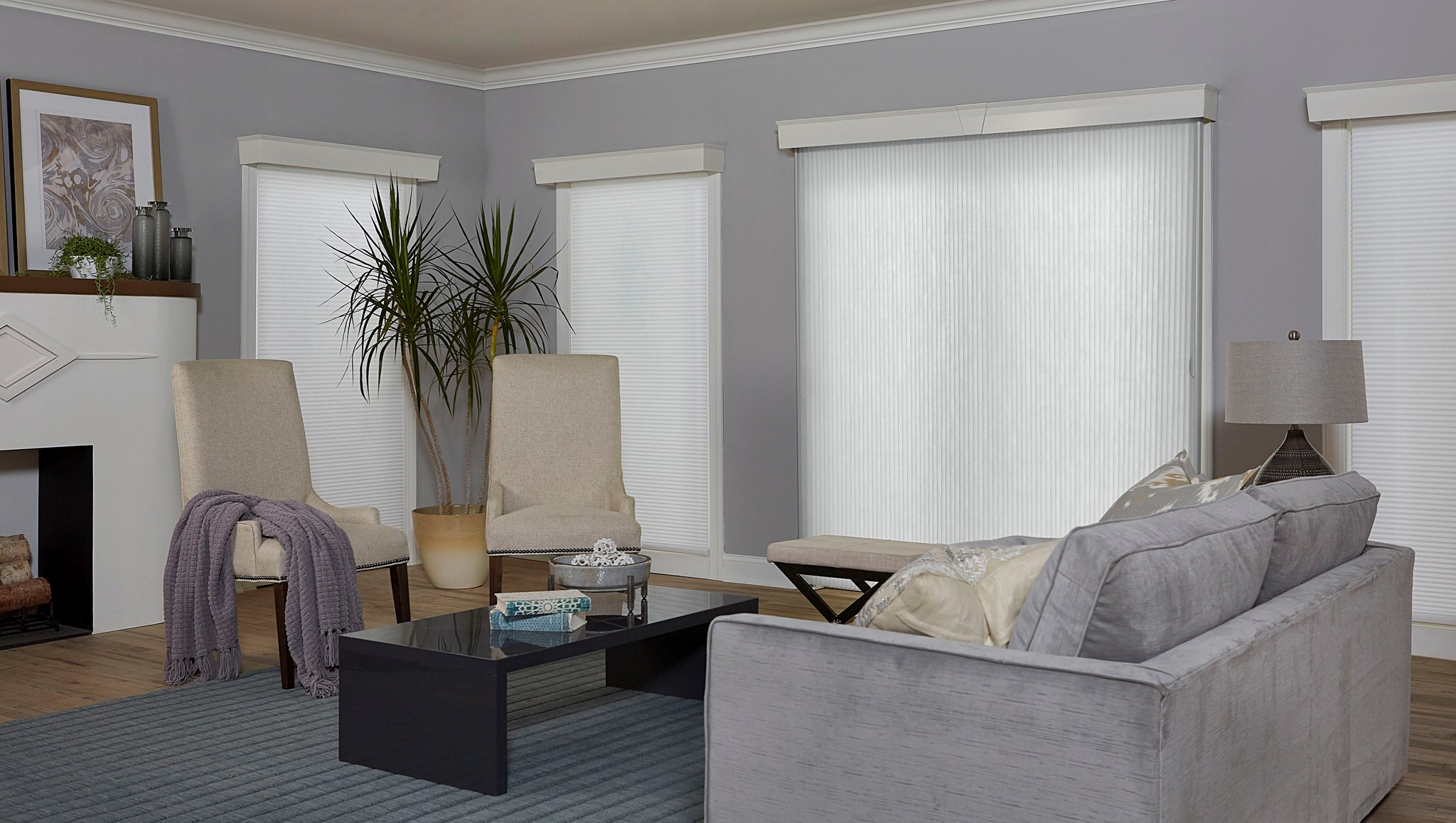 Bella View: Prestige Light Filtering Vertical Cellular Shade
