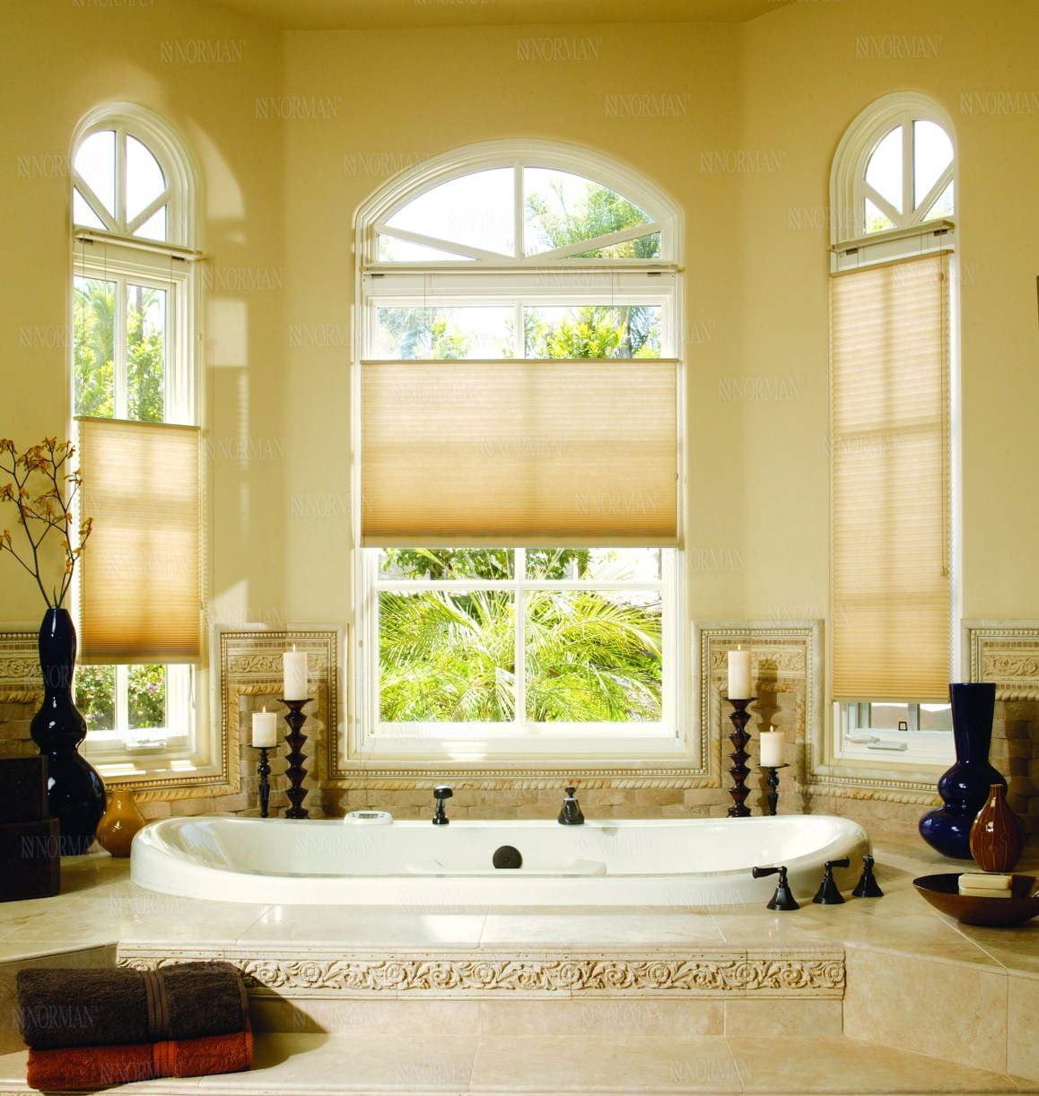 top down shades. Bella View: Legacy Light Filtering Cellular Shade Top Down Shades
