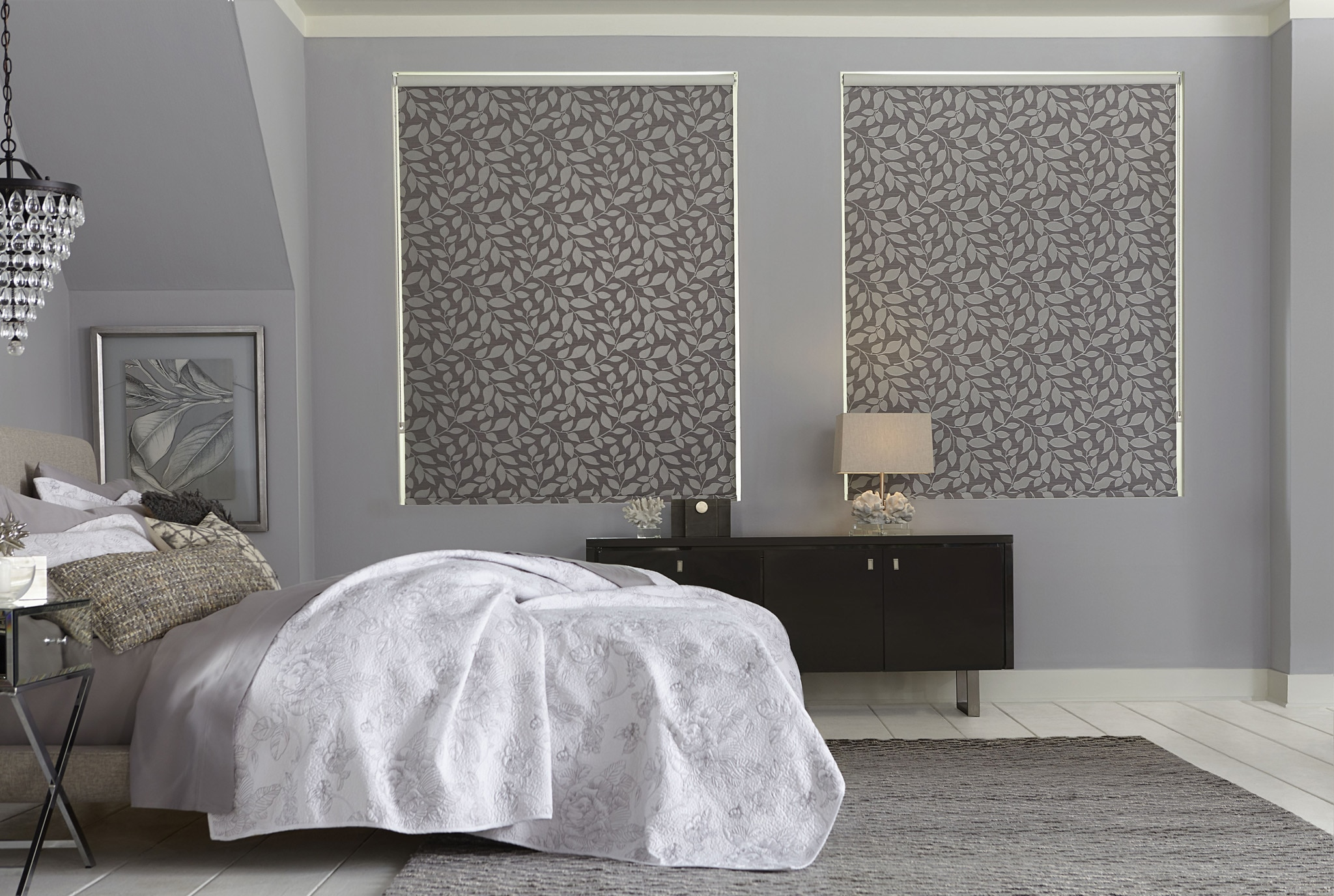 bella view trademark decorative roller shade - Roll Up Shades