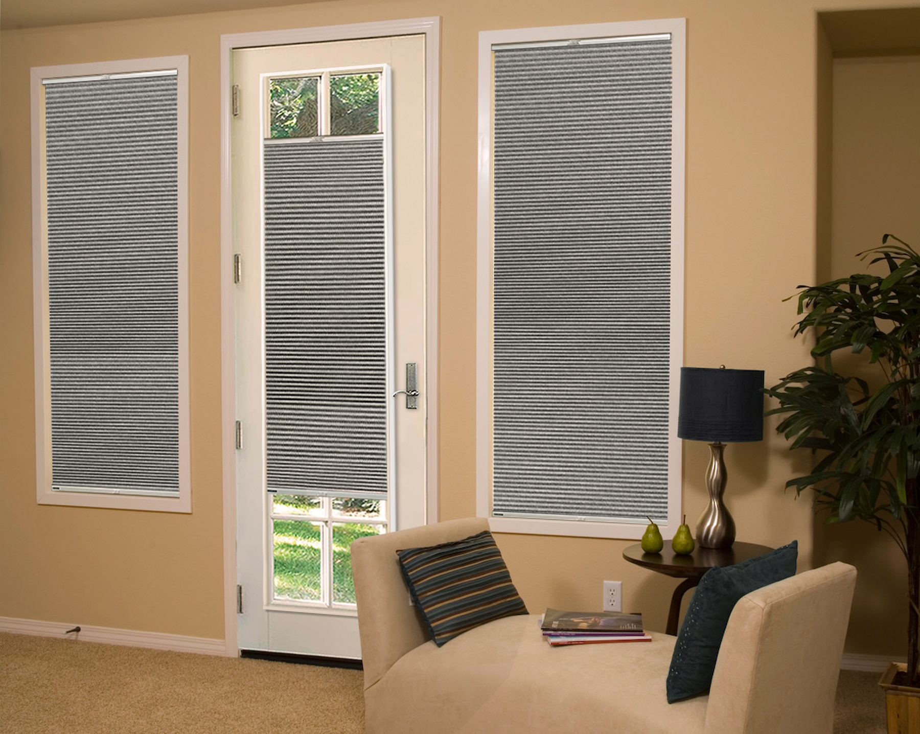 Legacy French Door Blackout Cellular Shade Americanblinds Com