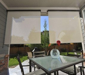 Keep Your Patio Cool w/ Outdoor Shades & Blinds | AmericanBlinds.com