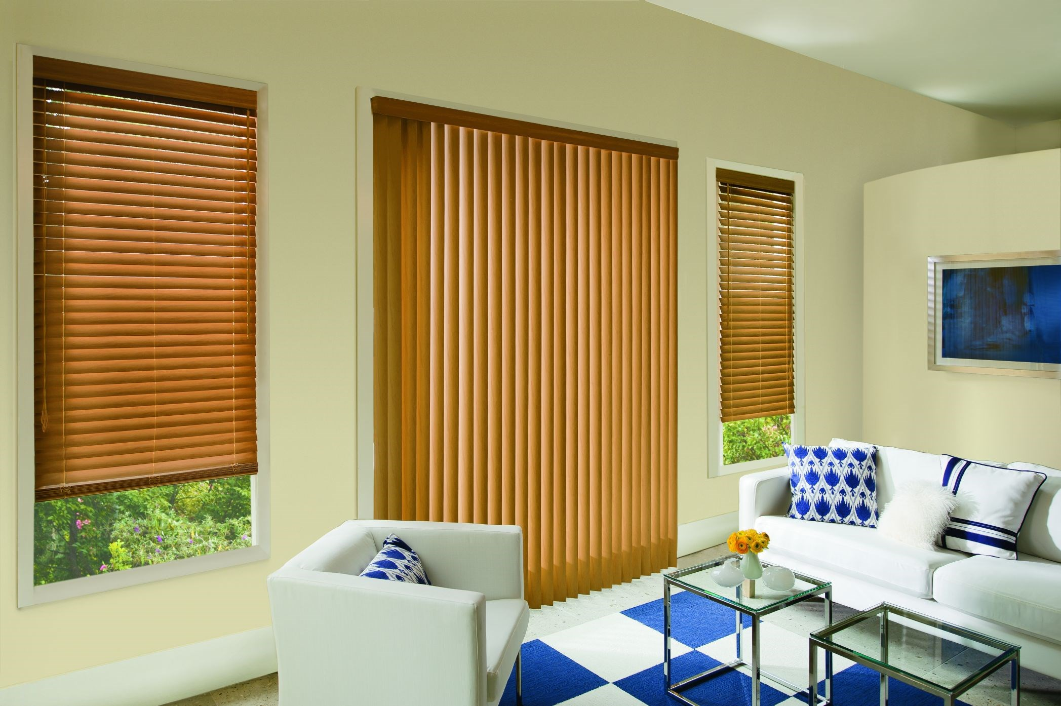 Visions 2 Quot Faux Wood Blind Photo Gallery Americanblinds Com