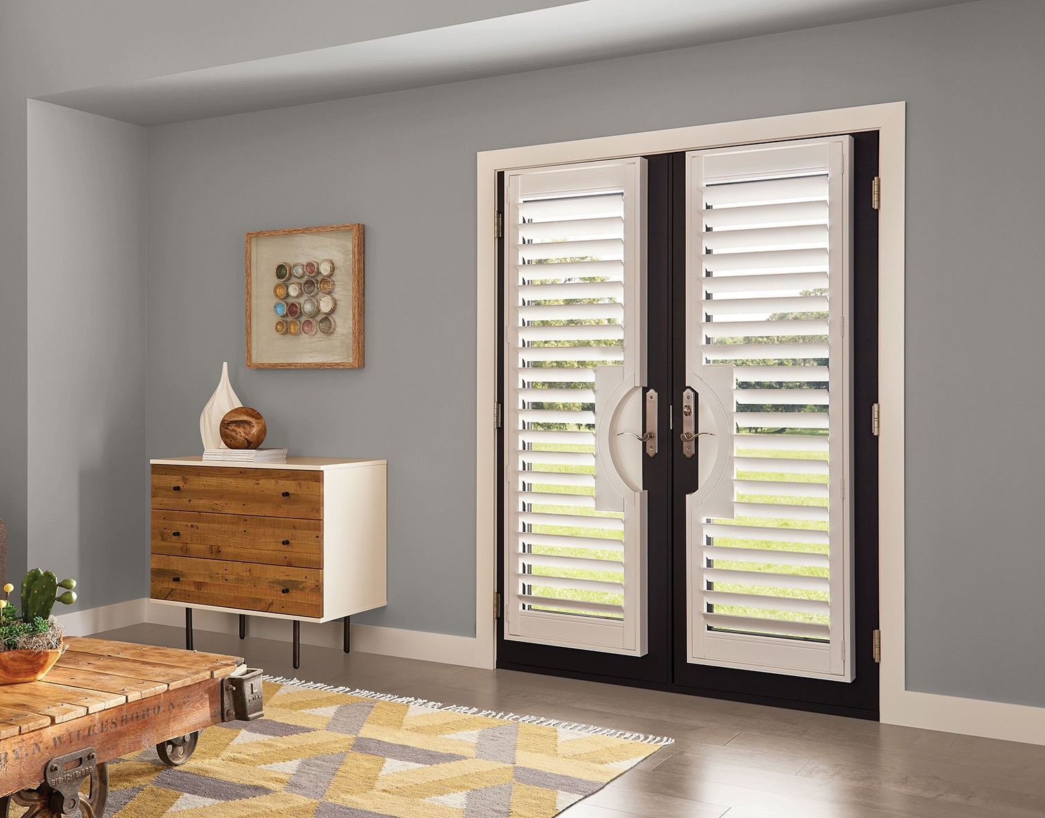 Levolor French Door Shutters Shutters Americanblinds Com